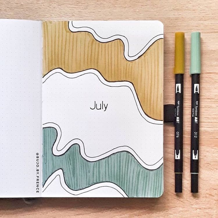 Beautiful color tones on this cover from @bujo.by.frence