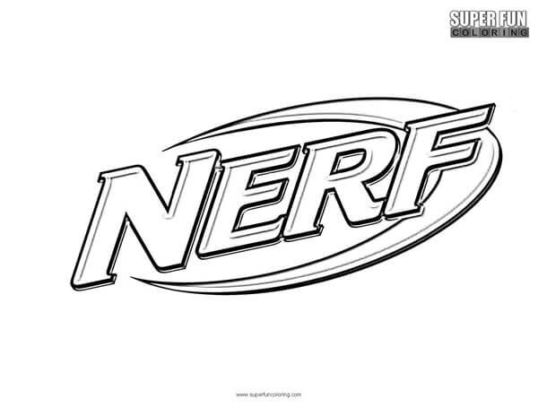 Nerf Coloring Page Super Fun