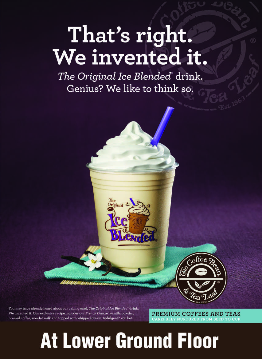 Enjoy the new ice blended coffee invented by The Coffee