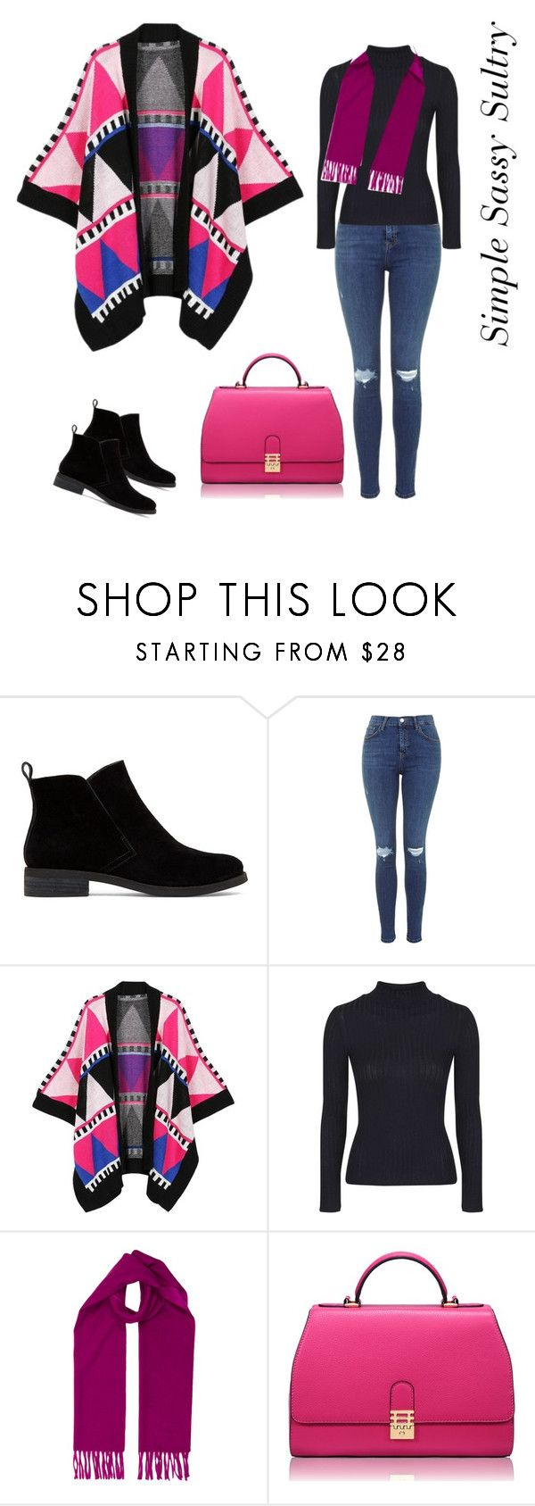 """""""Keep Me Warm !"""" by simplesassysultry ❤ liked on Polyvore featuring Lucky Brand, WithChic, Topshop, Hermès, Florian London, women's clothing, women's fashion, women, female and woman"""
