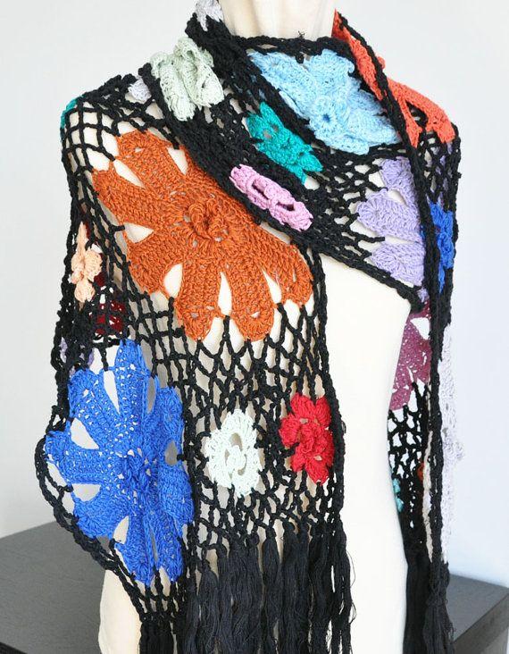 crochet shawl scarf | Hipp Crochet | Pinterest | Patrones libres de ...