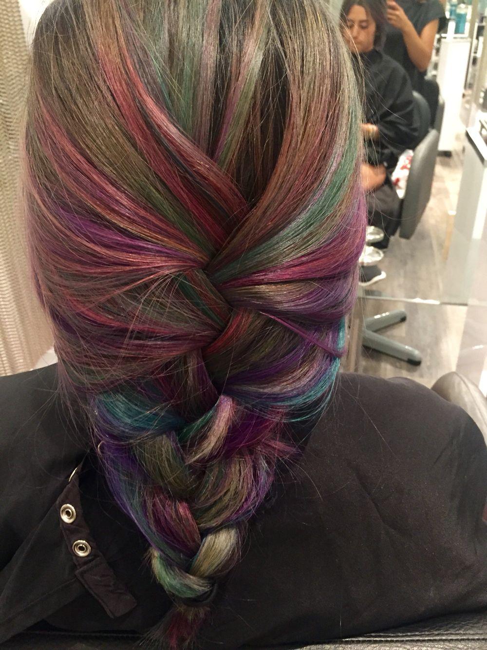 Oil Slick Hair Color Used Pravana Vivids Colors My Color Work At