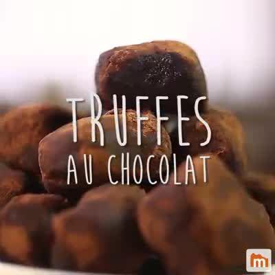 Truffes au chocolat #truffesauchocolat