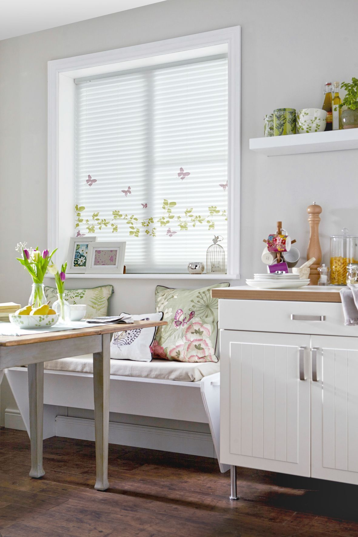 Vine u butterfly pleated blind by style studio white home decor
