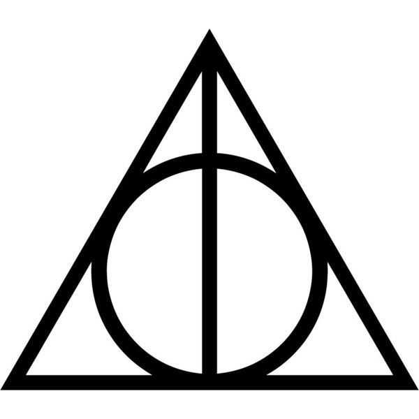 Deathly Hallows Harry Potter Sticker Decal 5 Inch Apple