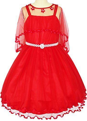 Sunny Fashion Robe Fille Fleur Perle Ceinture Reconstitution historique Mariage Partie 3-14 ans: Conception sans manches filles de fleur…