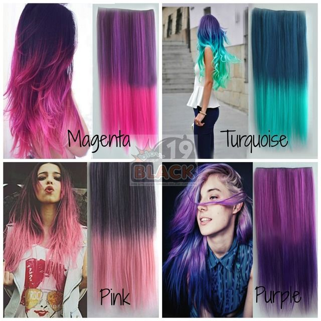 110gm Ombre Synthetic Hair Extensions 19black Pinterest