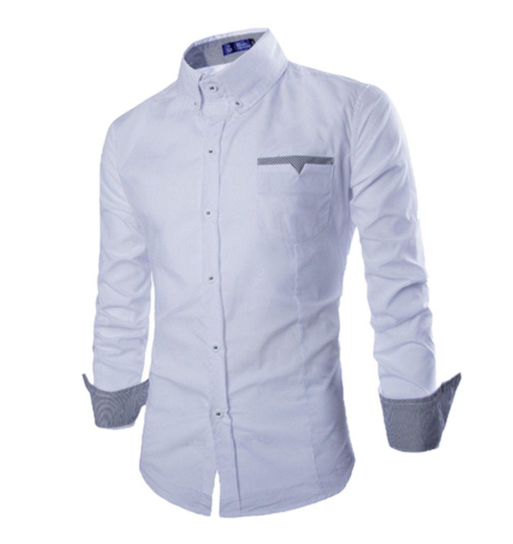 Qualityuc Mens American Clothes Fashion Light Colored Shirt Sleeve