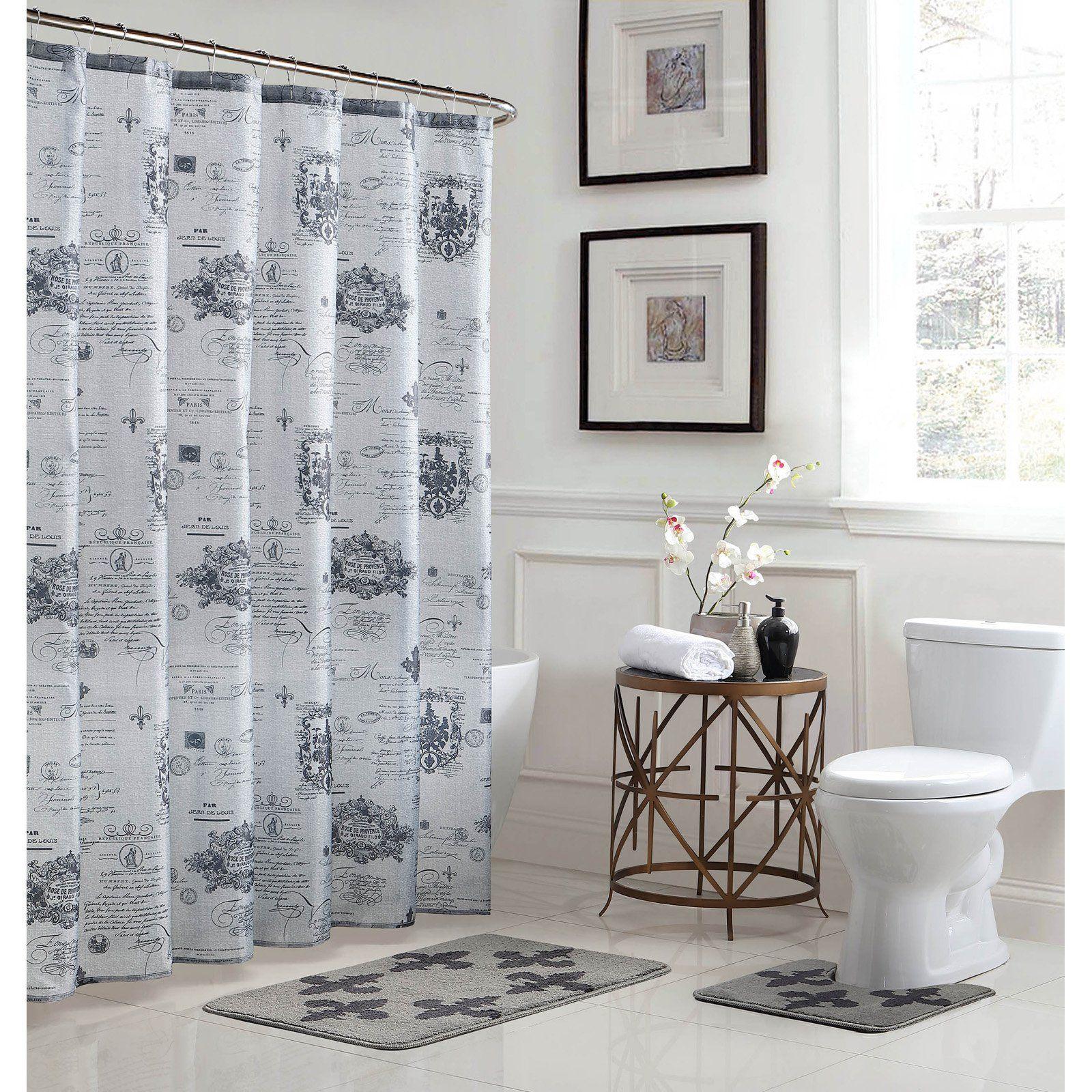 Bath Fusion Fleur De Lis 15 Piece Bathroom Shower Set Bathroom