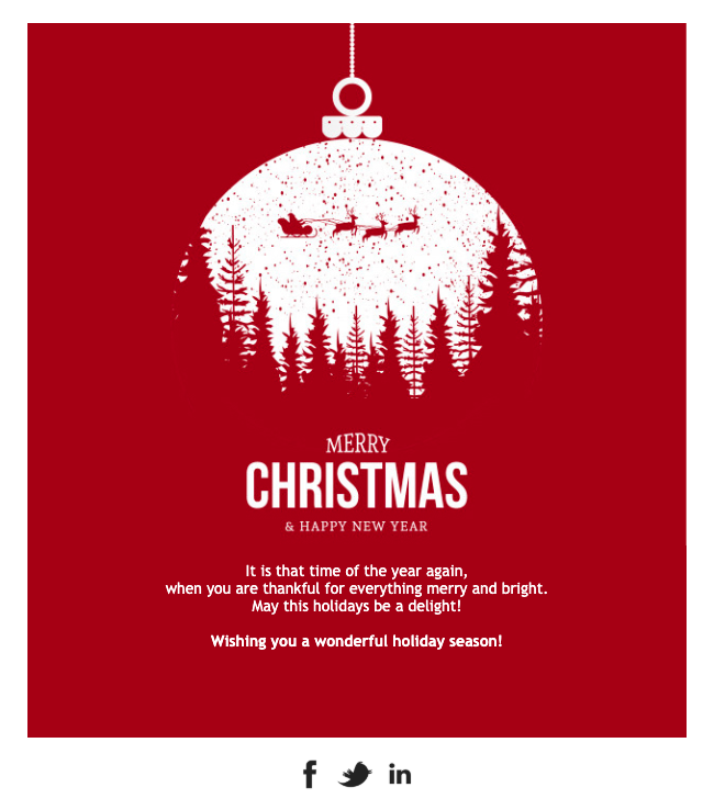 Christmas Card Email Template Email Design Inspiration Email Christmas Cards Email Template Design