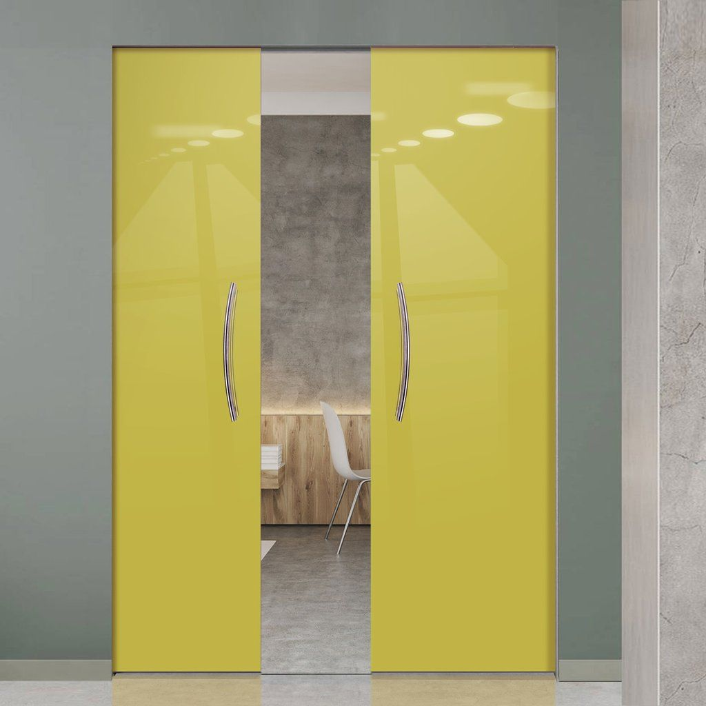Eclisse mm gloss yellow green colour glass syntesis double