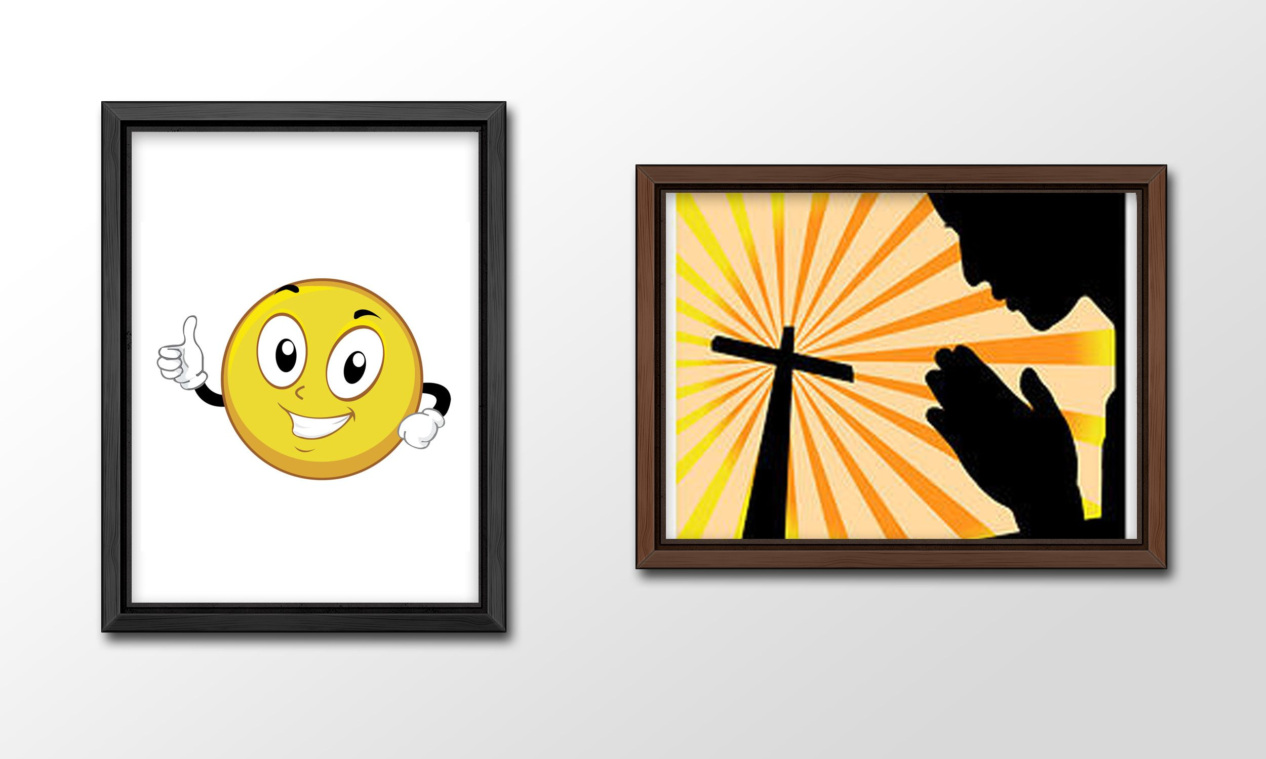 When I first started out as a Graphics Designer, one of the first lessons I learnt was how to use Adobe Illustrator. In order to practice my skills, I took images and recreated them, such as this smiley and praying to a cross.