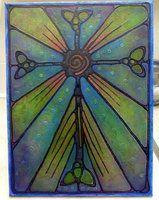 Stained Glass Paining Study by ~artnotnames on deviantART~(Ann Soo P Willis of Belfast, Northern Ireland.)