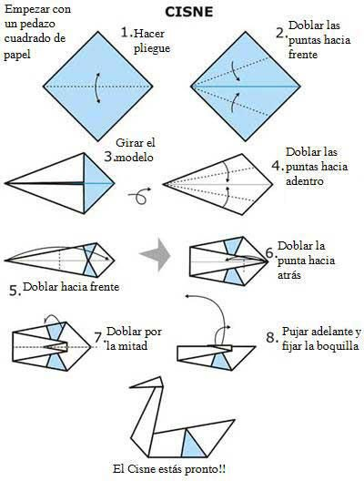 An mate con este cisne origami papiroflexia pinterest for Origami swan easy step by step