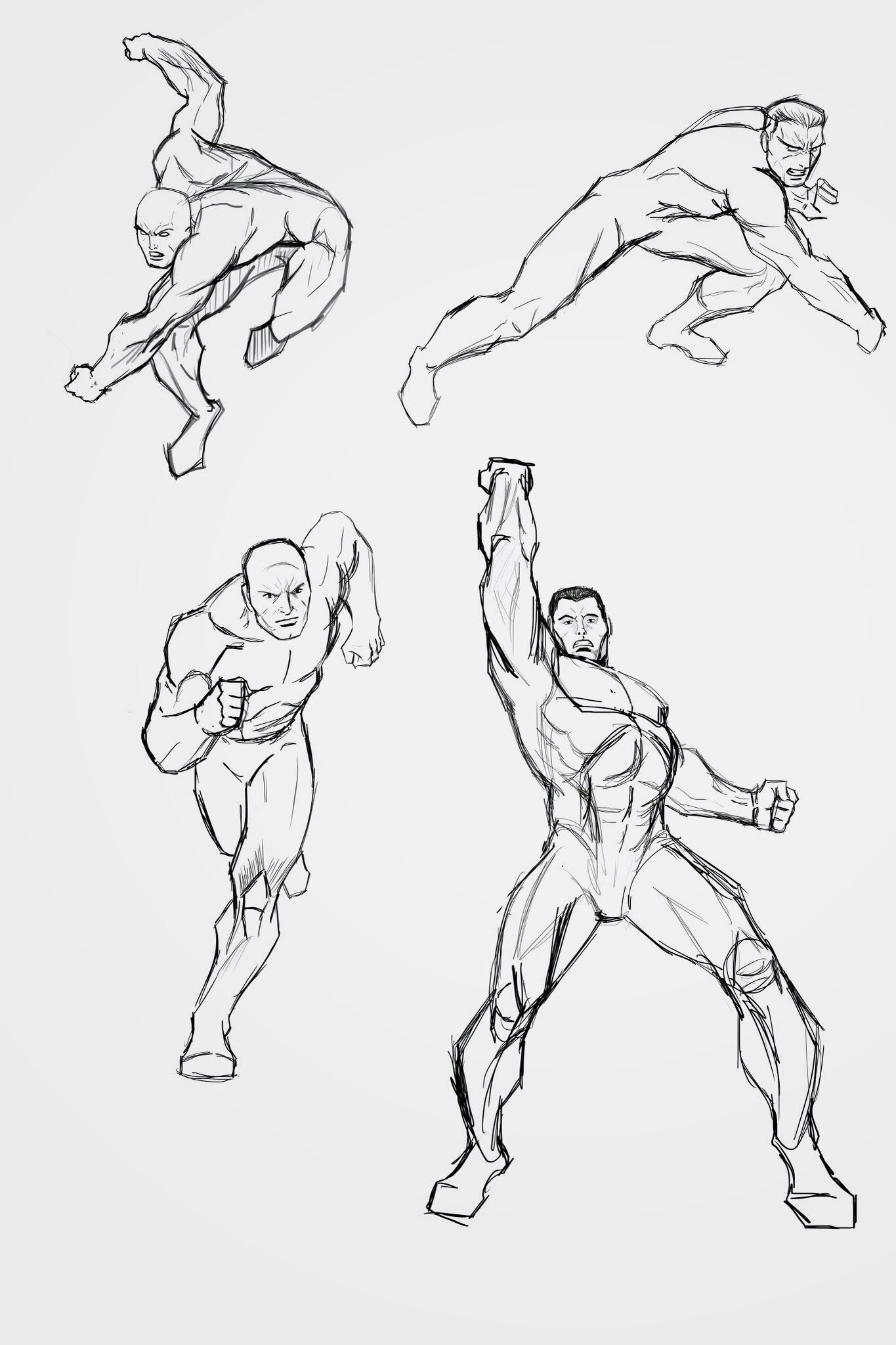 Drew Some Action Poses In Photoshop Male Body Art Action Poses Art Poses