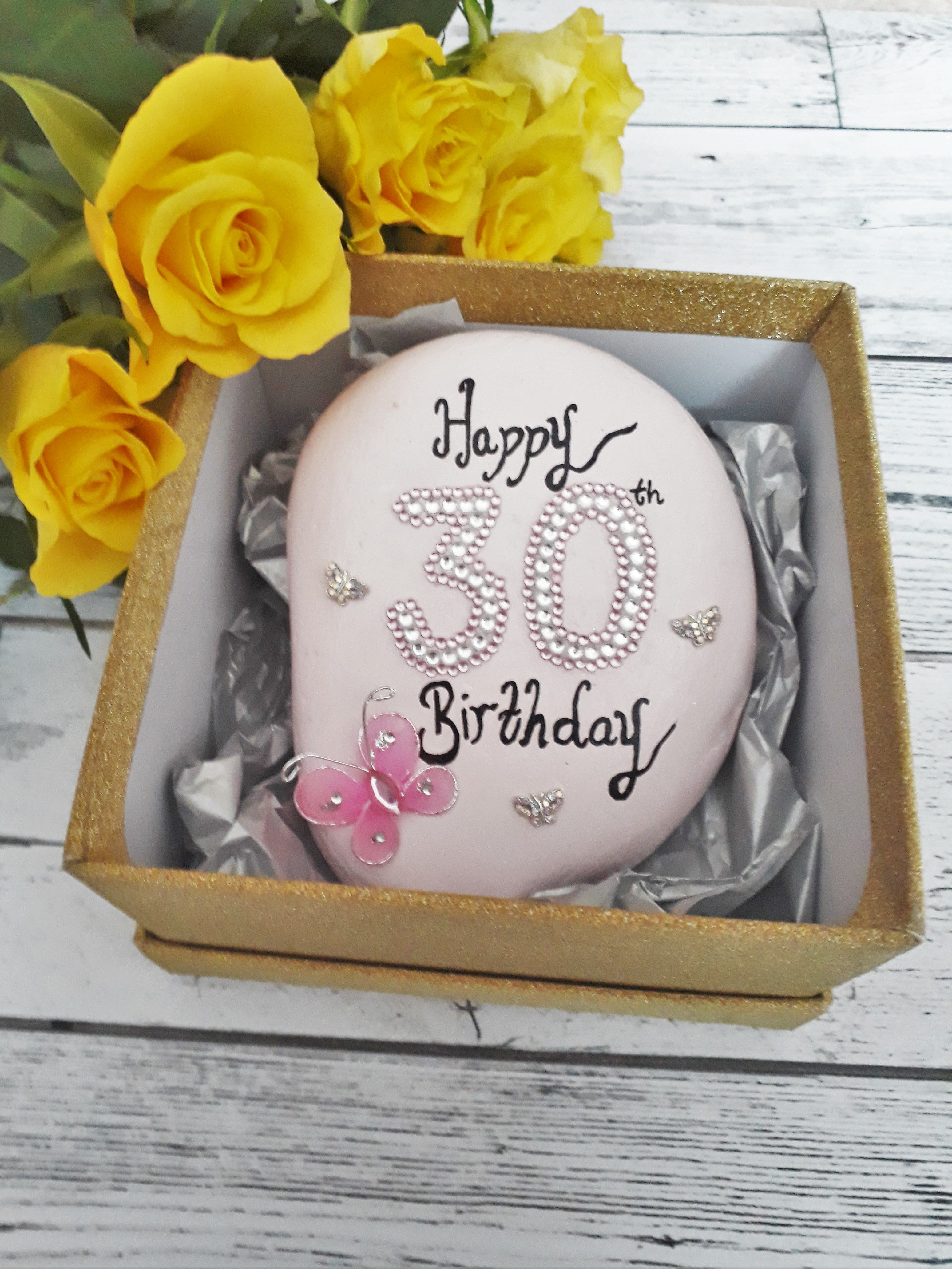 30th Birthday Keepsake Pebble Celebration Stone Would Make A Lovely Gift For