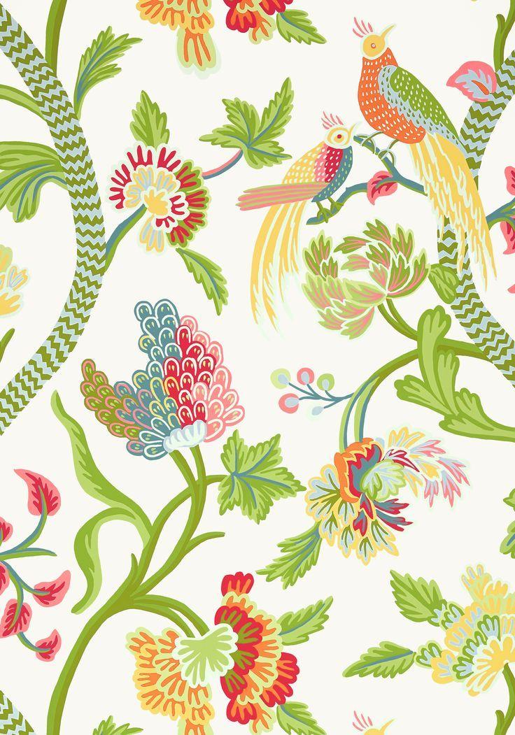 Janta Bazaar Wallpaper In 2020 Chinoiserie Wallpaper Thibaut Wallpaper Bright Wallpaper
