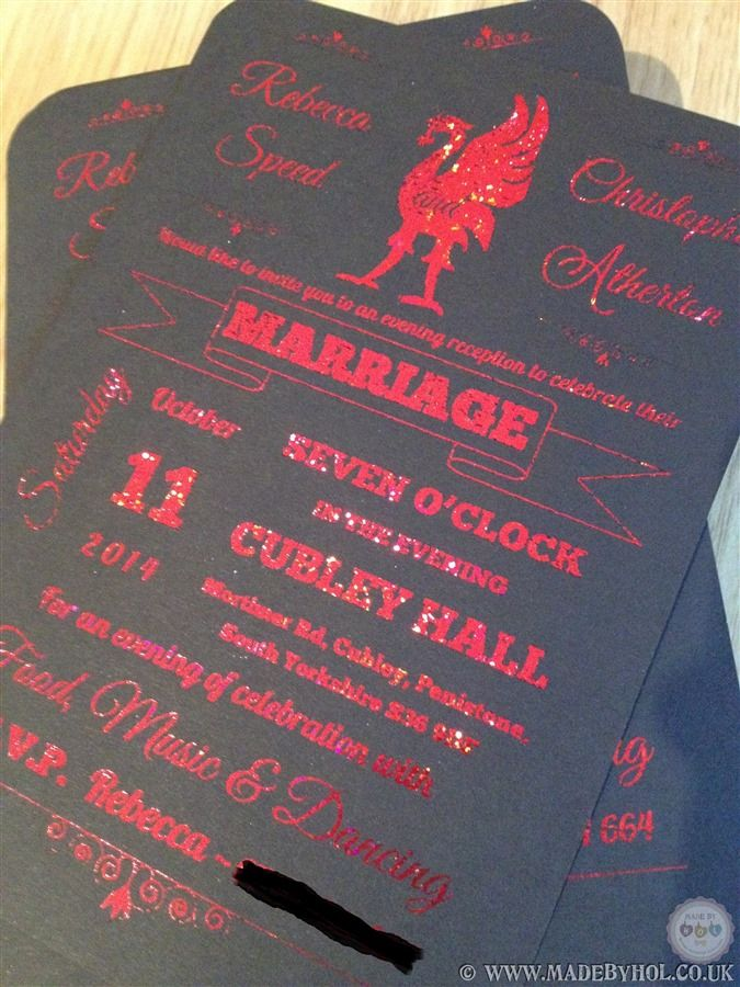 Bespoke Liverpool football club / liverbird themed wedding ...