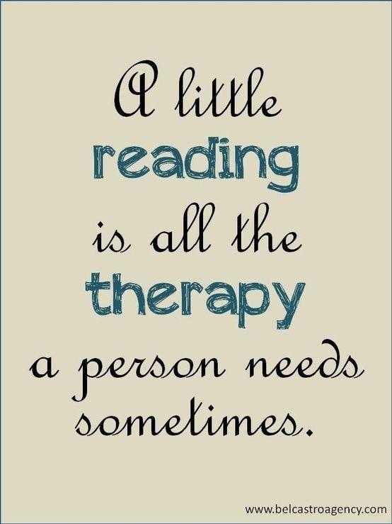 nice Un poco de lectura es toda la terapia que se neces... Best Quotes - Interesting lookin stuff!