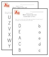Uppercase and Lowercase Letters Worksheets | Kids Learning Station ...