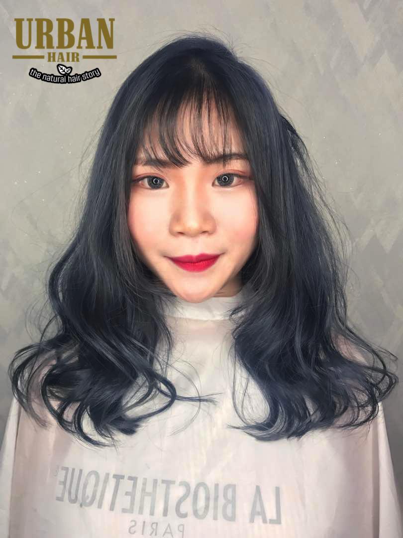 Pastel Ashy Blue Hair Color Simple Organic Natural Best Hair Salon Cool Hairstyles Ashy Blue Hair