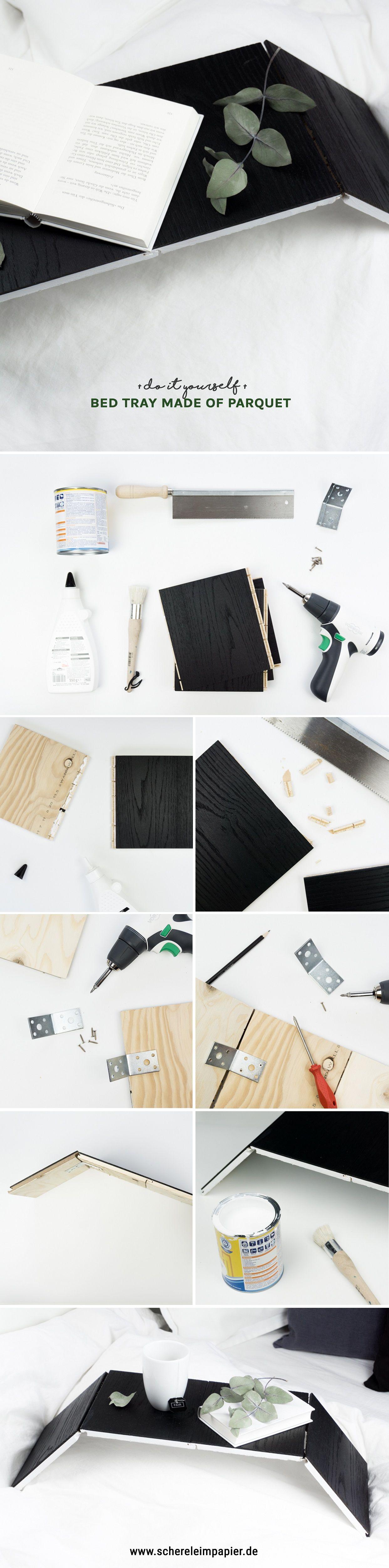 so l sst sich parkett upcyceln diy betttisch selber. Black Bedroom Furniture Sets. Home Design Ideas