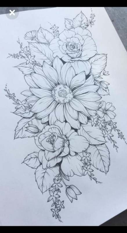 Photo of Tattoo Hip Floral Thigh Piece 60 Super Ideas