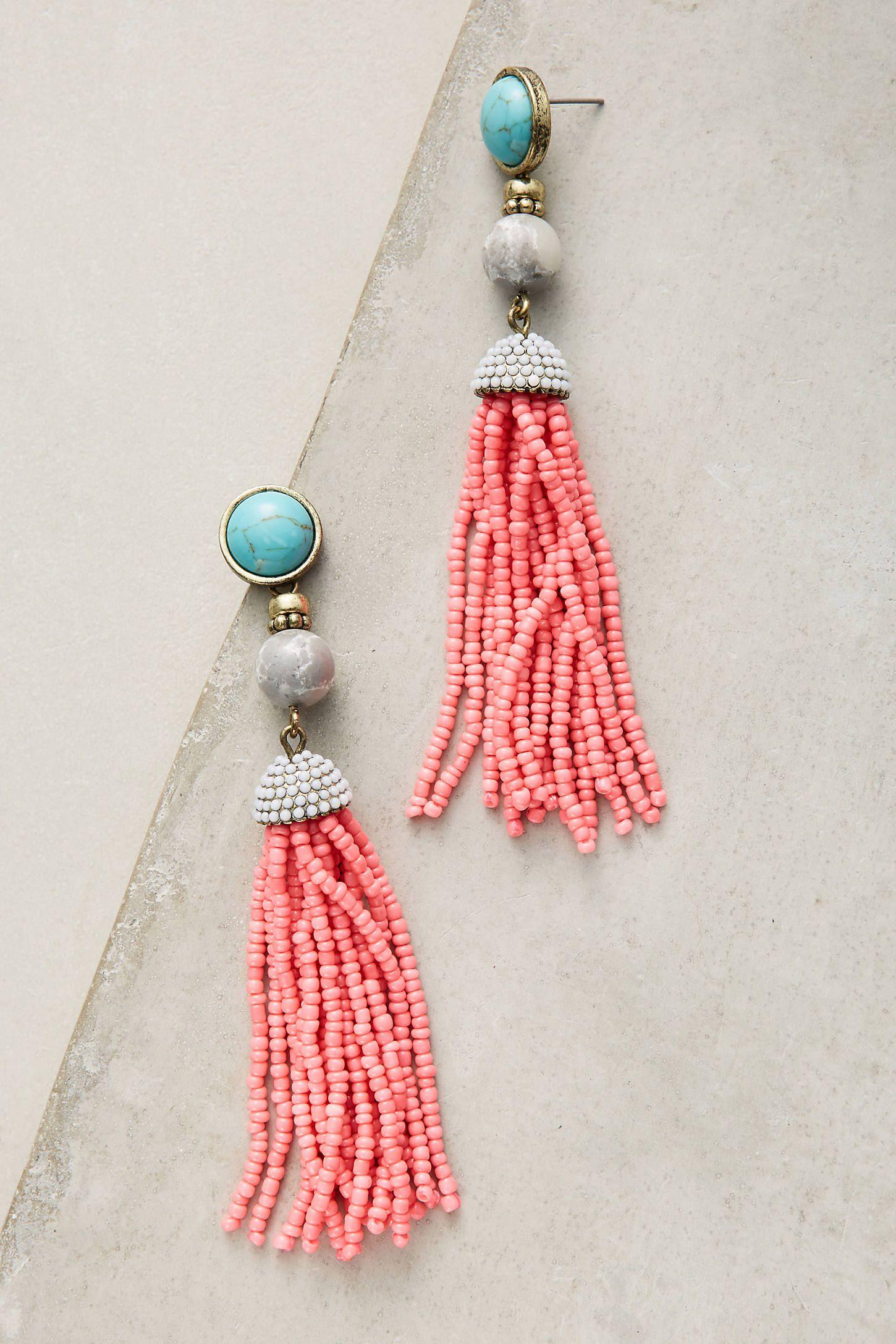 artemis tassel drop earrings by: anthropologie @anthropologie (us