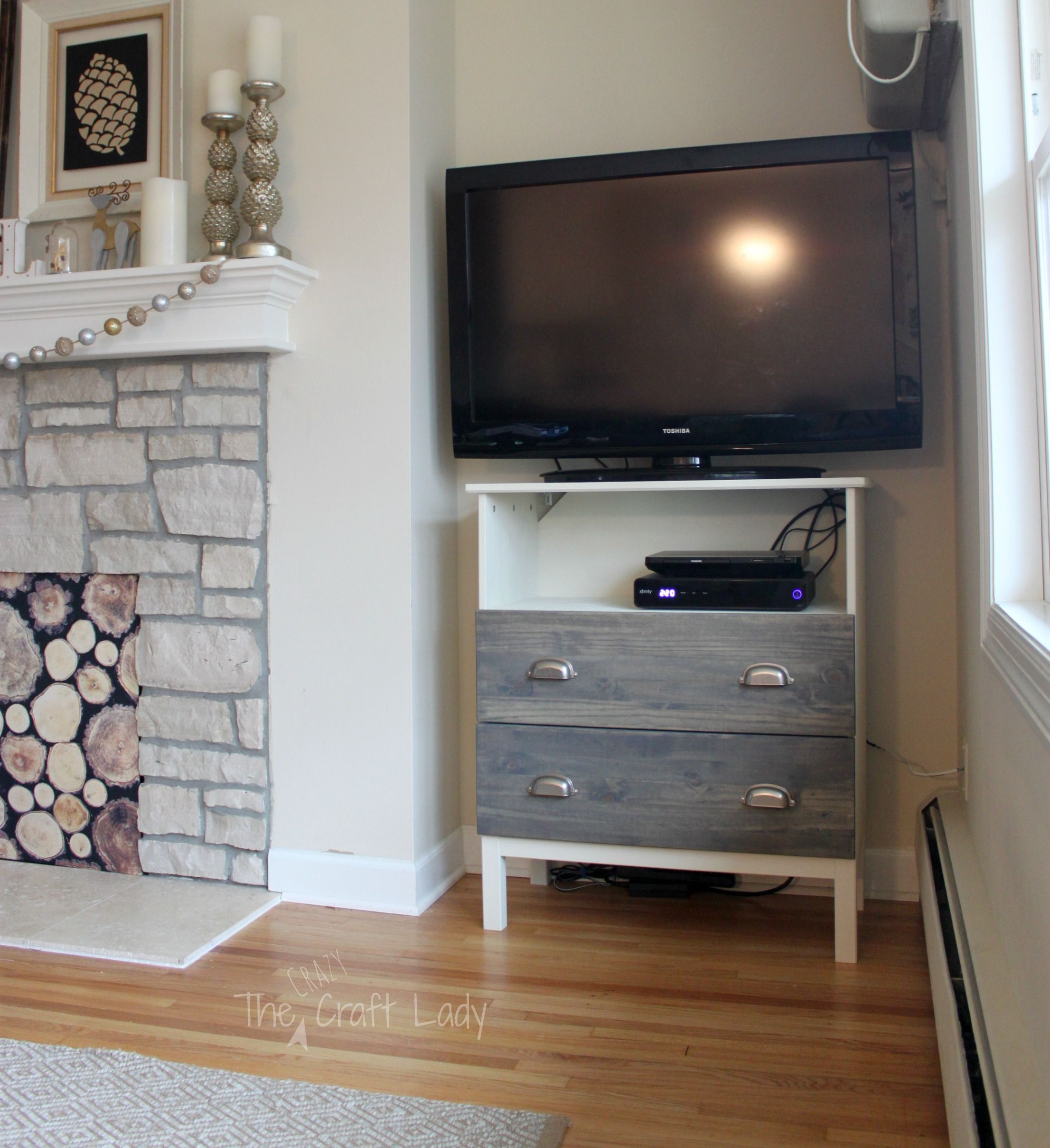 Ikea tarva dresser turned tv stand tv stands dresser and paint