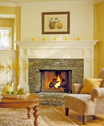 Fireplace Designs: Ideas for Your Stone Fireplace | Mantle ...