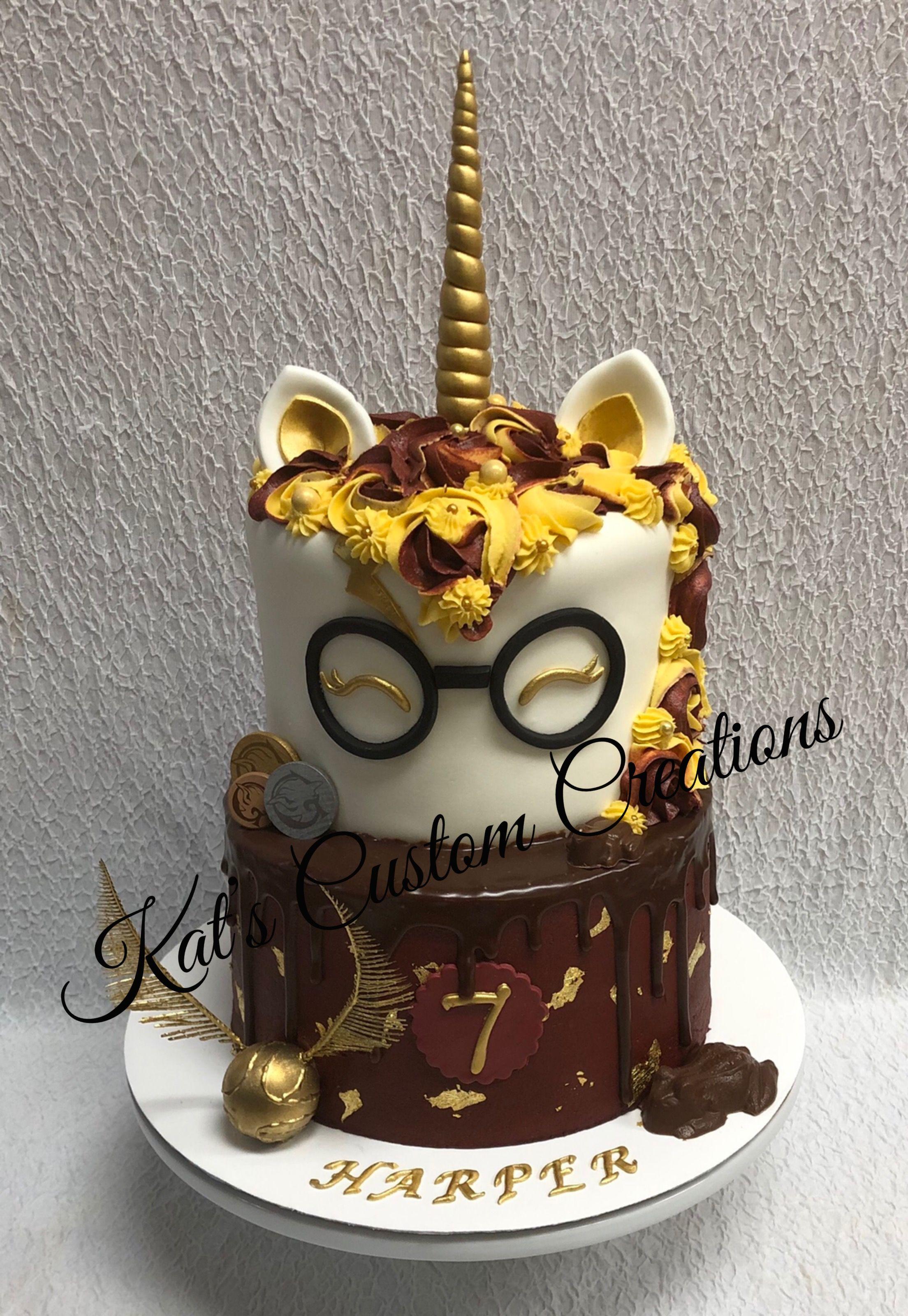 Harry Potter Unicorn Cake Harry Potter Birthday Cake Harry
