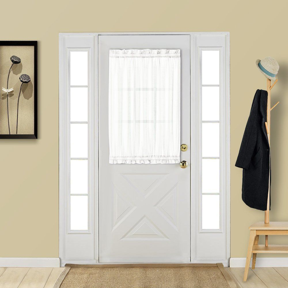 Aquazolax Sheer Door Window Curtain For Small Door Windows Elegant