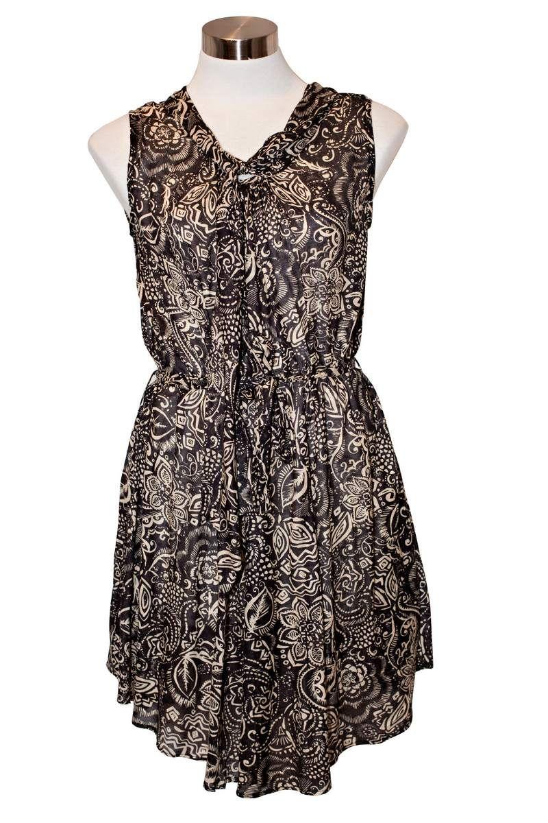 Rita Swing Dress – Black Floral $39.95