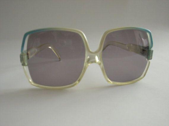 Balenciaga Vintage azul Plaza enmarcada gafas de sol modelo 7883