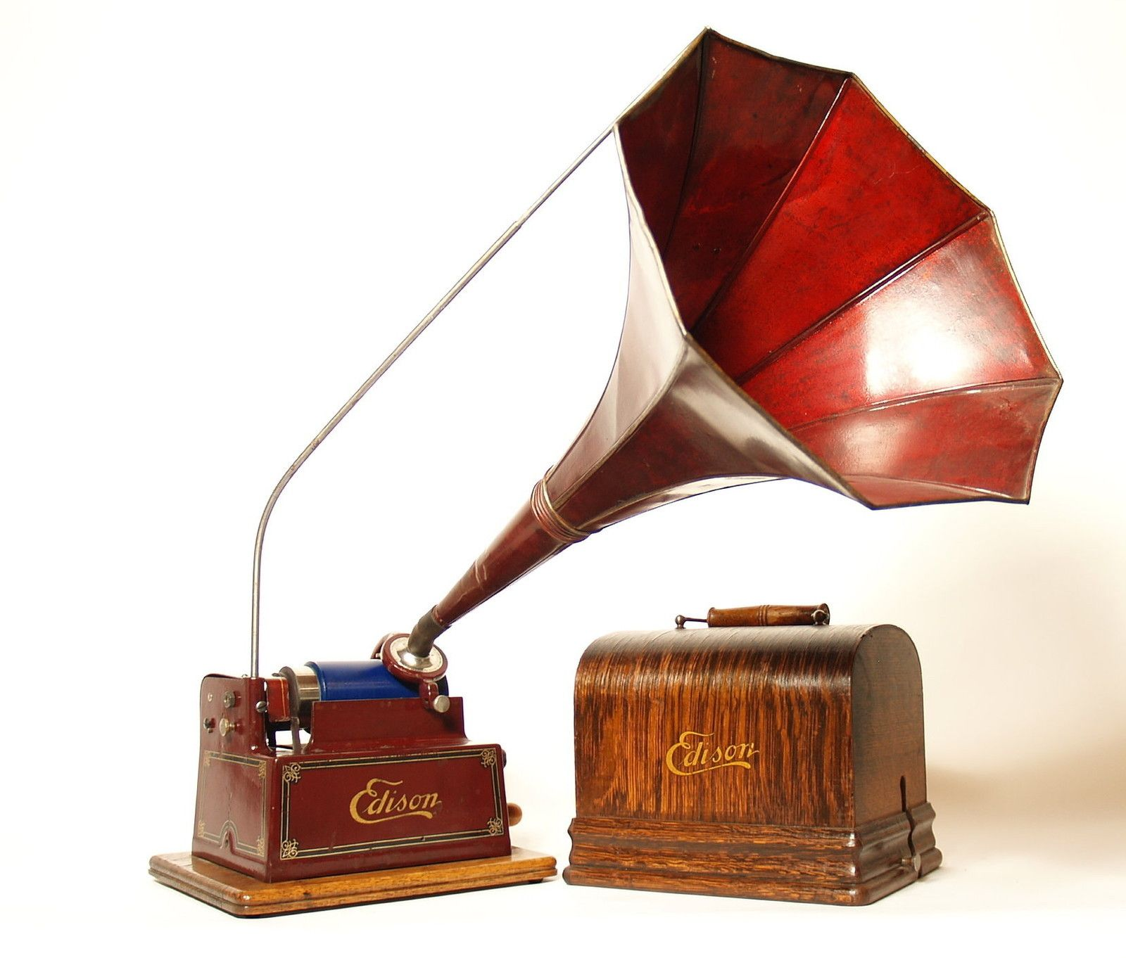 1909 Edison Phonograph | GreatestCollectibles.com | Making Music ... for Thomas Edison Phonograph Cylinder  35fsj