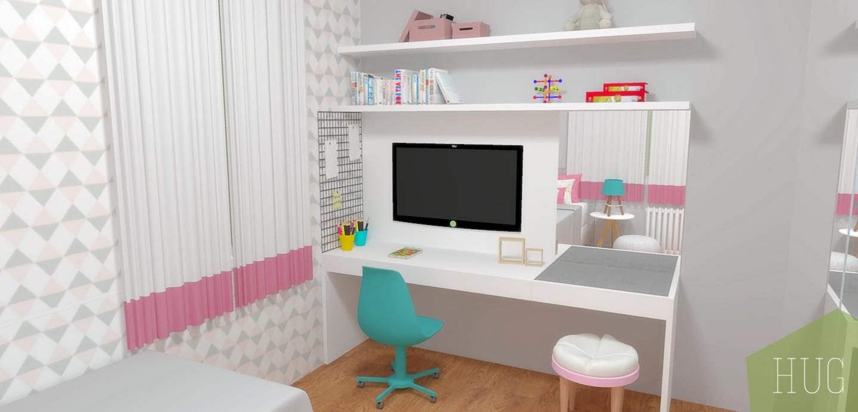 Dormitório infantil com aproveitamento máximo do espaço! Projeto Hug Arquitetura  www.hugarquitetura.com.br