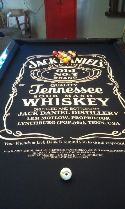 THE CENTER PIECE OF DANIELS FUTURE MAN CAVE Jack Daniels Pool - Jack daniels pool table