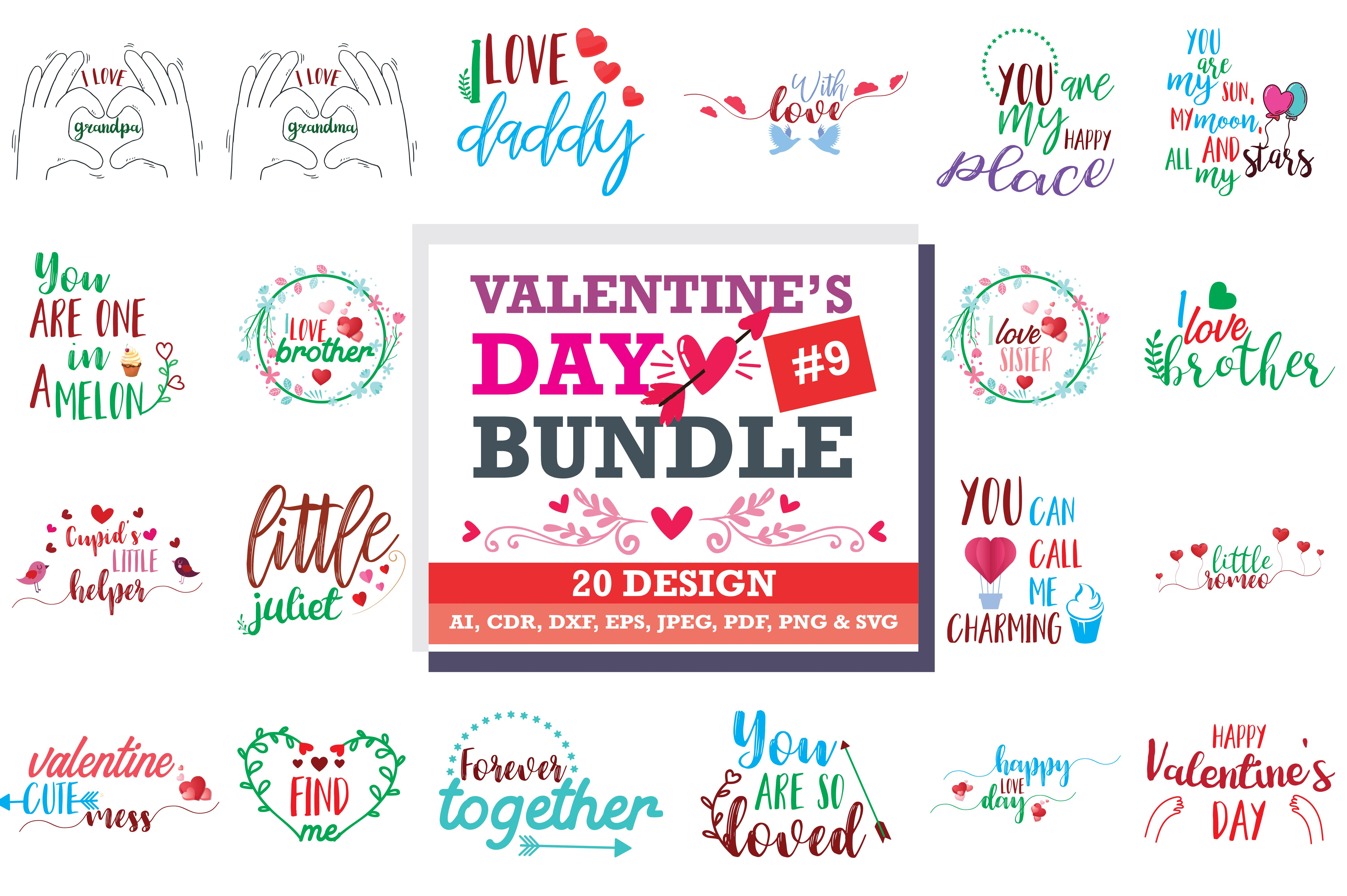 Download Free Valentine S Day Svg Bundle Graphic By Thelucky Di 2020 PSD Mockup Template