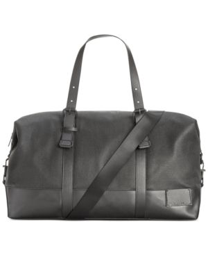 57252058b9b Calvin Klein Coated Canvas Duffle Bag - Black | Products | Canvas ...