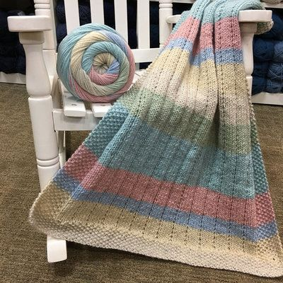 Check out Plymouth Yarn F828 Vertical Lines Baby Blanket (Free) at ...