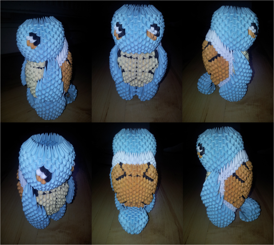 3D Origami Squirtle Pokemon