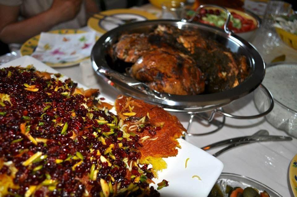 Beautiful Persian dinner table by my friend Azhideh.
