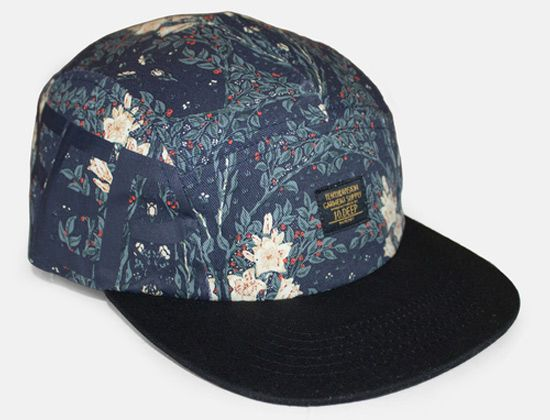 97b846ad0553a Ironsides Navigator Navy Cherry Blossom 5 Panel Hat by 10 DEEP