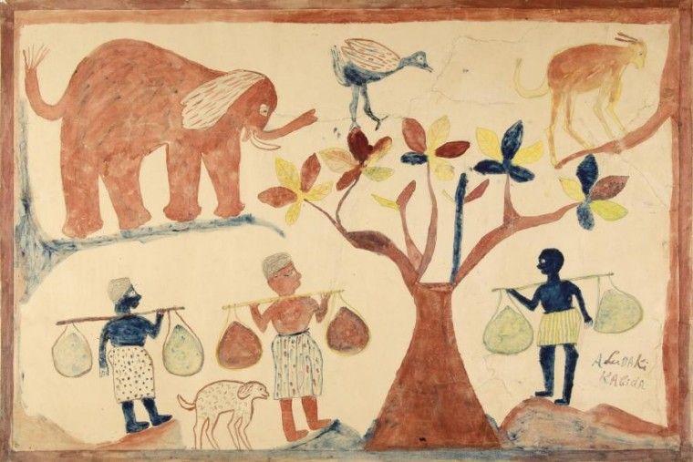 Pinturas de Albert Lubaki