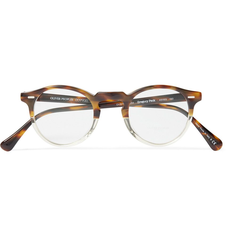 Oliver Peoples Gregory Peck Acetate Optical Glasses | MR PORTER ...