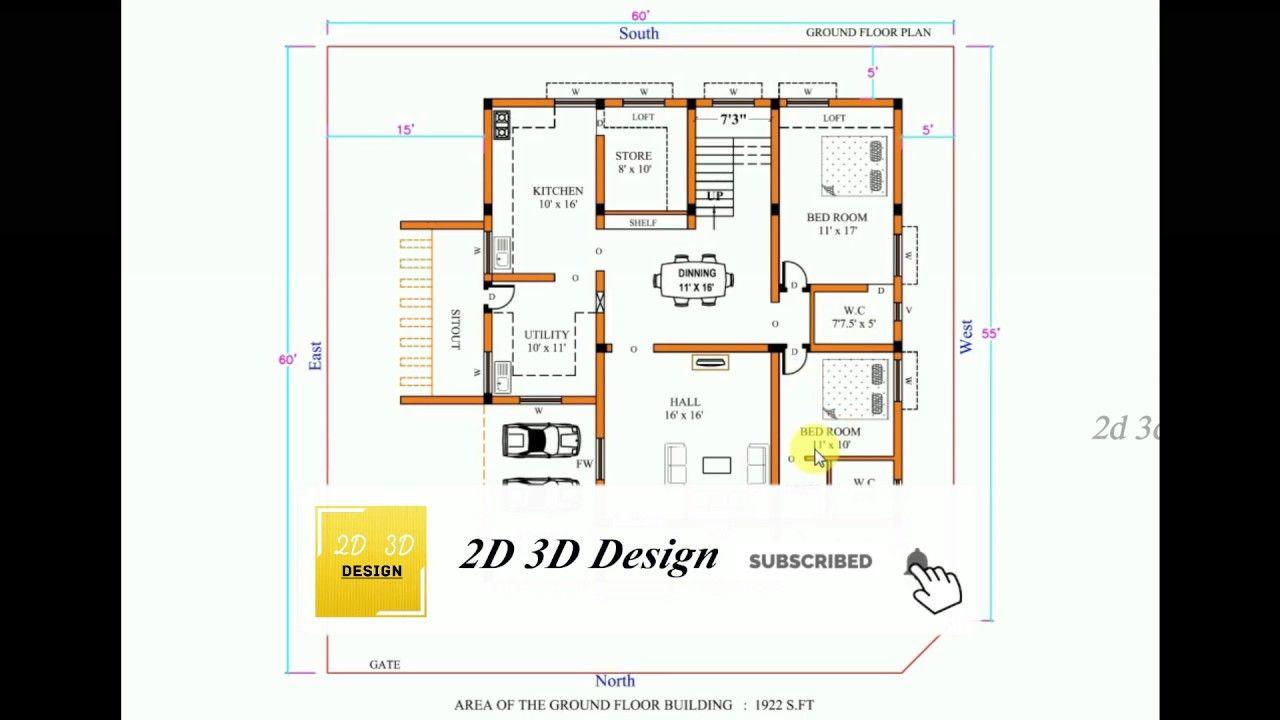 North Facing House Vastu Plan In Tamil 60 X 60 2019 North Facing House One Floor House Plans 3d House Plans