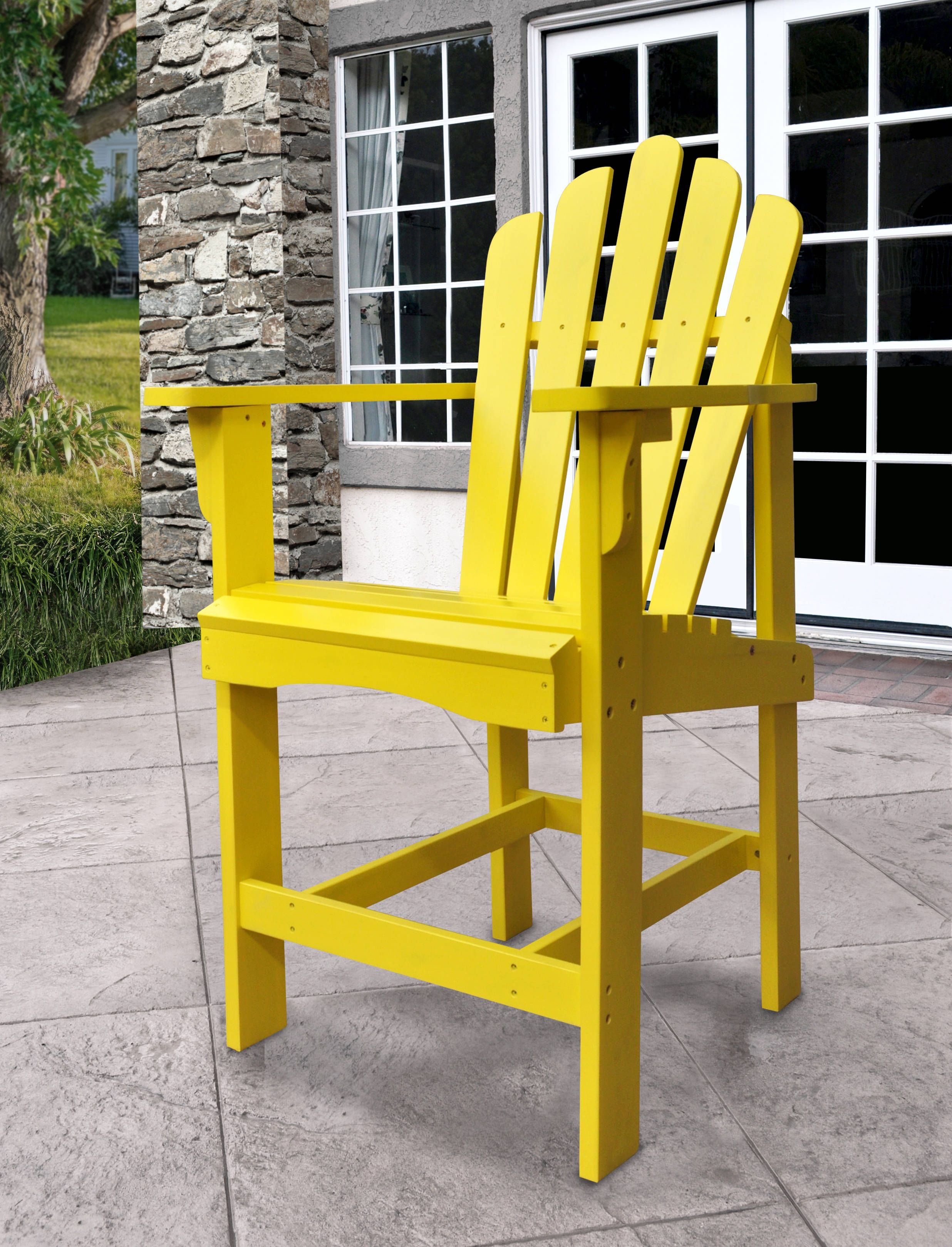 Westport Traditional Lemon Yellow Cedarwood Outdoor Counter