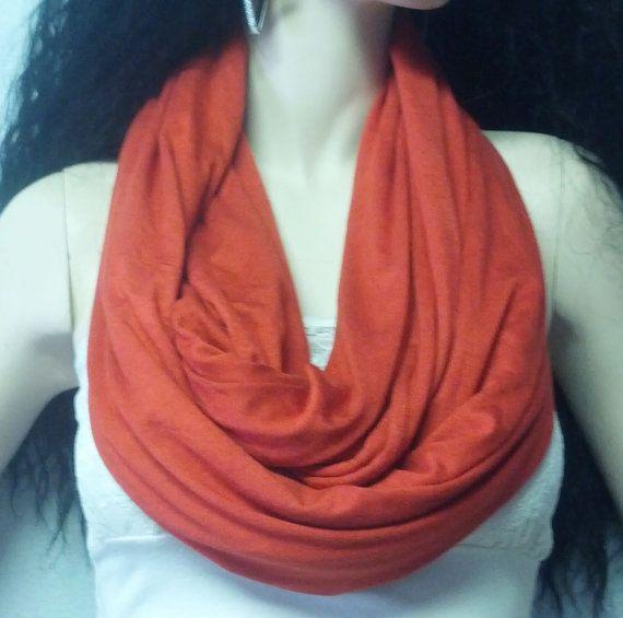 Fall Beauty Burnt Orange Rust Infinity by GypsysWildHeartShop