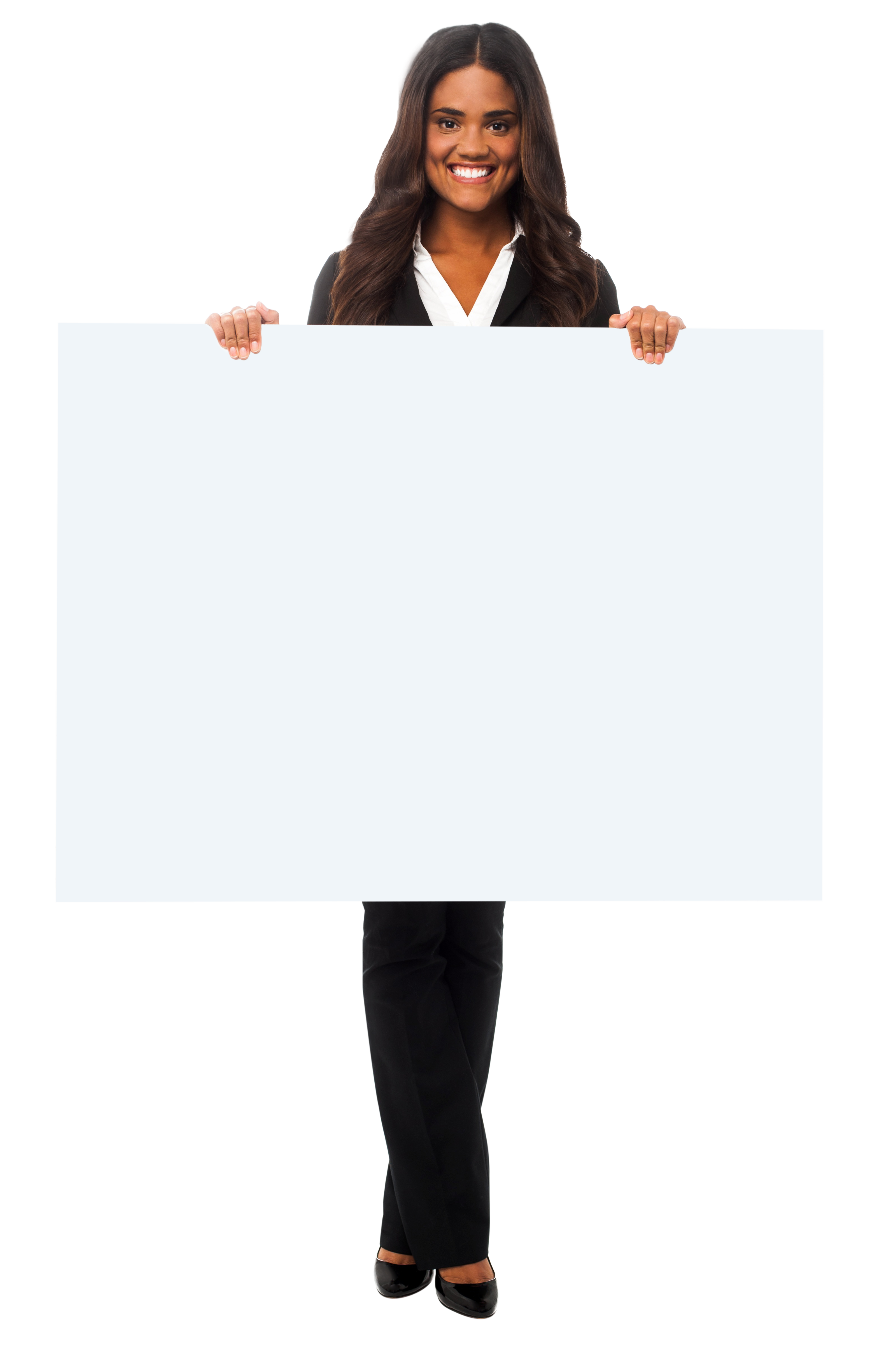 Girl Holding Banner Png Image Girl Image Png Images