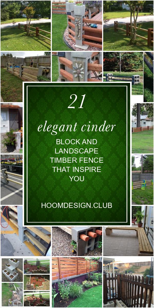 21 Elegant Cinder Block And Landscape Timber Fence That Inspire